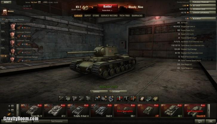 world of tanks garage