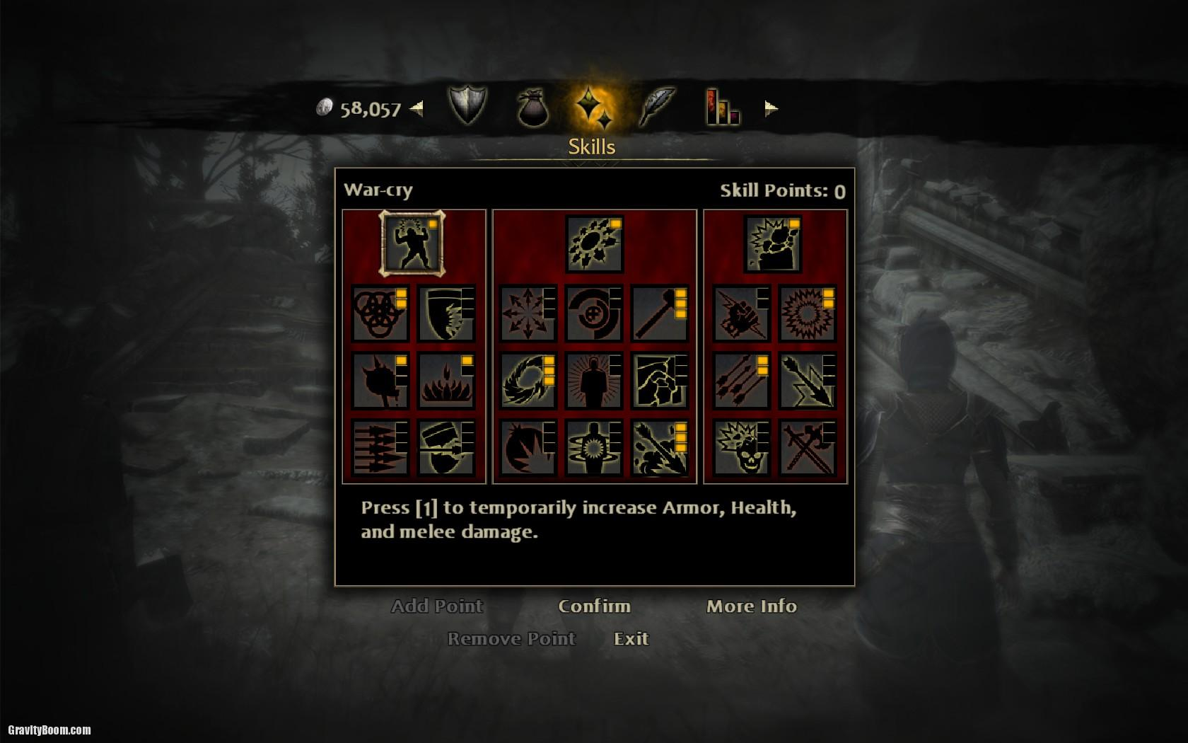 Lord of the rings war in the north item slots