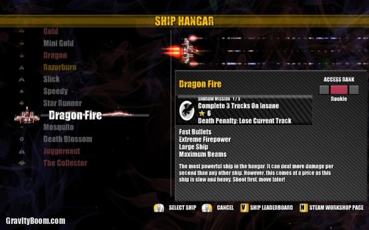 beat hazard ship hangar